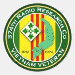 374o RRC 2 - ASA Vietnam Pegatina Redonda