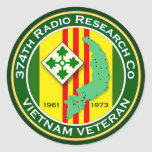 374th RRC 2 - ASA Vietnam Classic Round Sticker