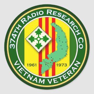 374th RRC 2 - ASA Vietnam Classic Round Sticker