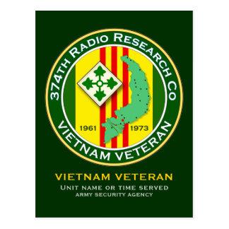 374th RRC 2 - ASA Vietnam Postcard