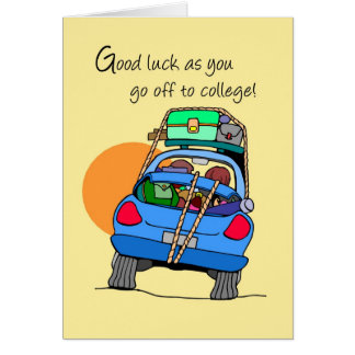 3758 Off to College Whimsical Car Card