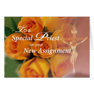 3764 Blessings To Priest on New Assignment Greeting Card