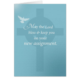 3768 Priest New Assignment, Spirit on Cross Greeting Card