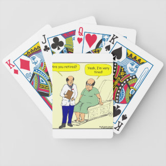 376 Retired-Tired cartoon Bicycle Playing Cards