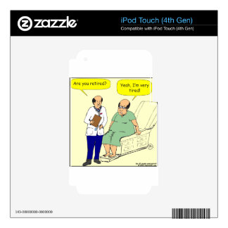 376 Retired-Tired cartoon iPod Touch 4G Skins