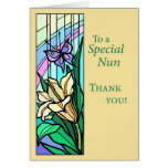 3770 Nun Thank You Stained Glass Greeting Card