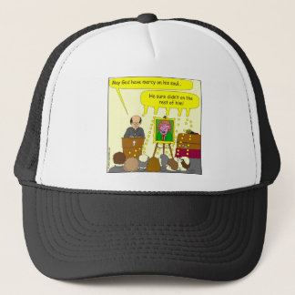 377 funeral mercy on his soul cartoon trucker hat