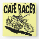 379 Cafe Racer Square Wallclock