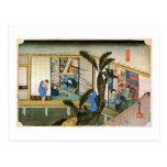 37. 赤坂宿, 広重 Akasaka-juku, Hiroshige, Ukiyo-e Postales