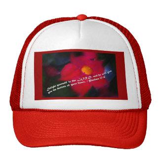 37:4 de los salmos en rojo gorras