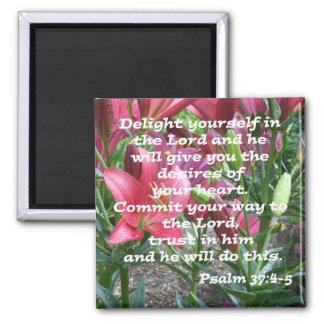 37:4 del salmo - 5 imán cuadrado