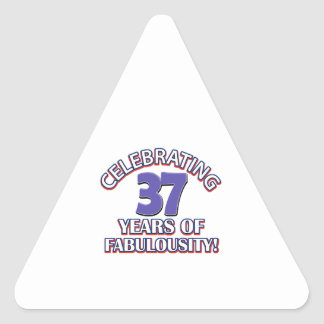 37 años de fabulousity pegatina triangular