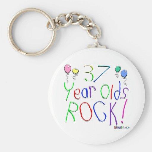 ¡37 años de la roca! llaveros