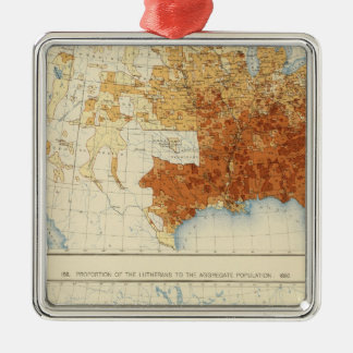 37 Baptists, Lutherans 1890 Square Metal Christmas Ornament