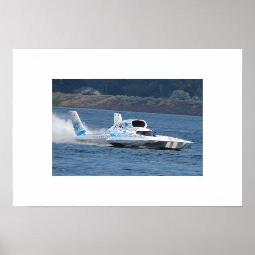 37 Beacon Plumbing Hydroplane Poster