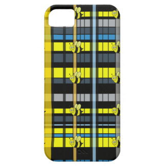 37.Black and Yellow Plaid Bumble Bees Design iPhone SE/5/5s Case