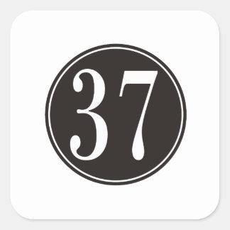 #37 Black Circle Square Sticker