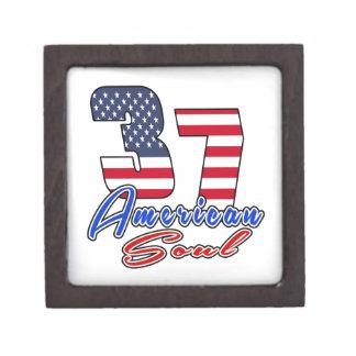 37 diseños del cumpleaños del alma del americano cajas de recuerdo de calidad