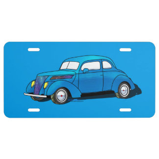 37 Ford Club Coupe License Plate