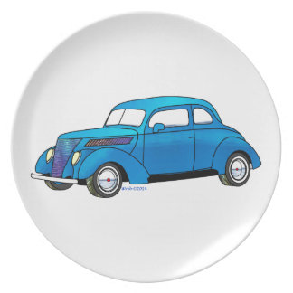 37 Ford Club Coupe Party Plates