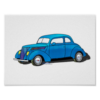 37 Ford Club Coupe Print