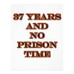 37 ninguna hora de prisión membrete a diseño