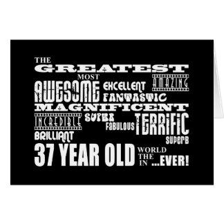 37.o Años más grandes de la fiesta de cumpleaños Tarjeta Pequeña
