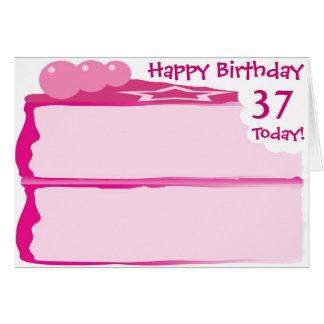 37.o cumpleaños feliz tarjeta de felicitación