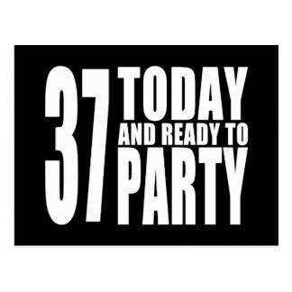 37.o Fiestas de cumpleaños: 37 hoy y aliste para Postales