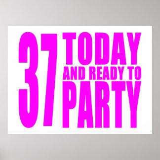 37.os cumpleaños de los chicas: 37 hoy y aliste pa póster