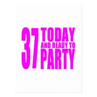 37.os cumpleaños de los chicas: 37 hoy y aliste tarjetas postales