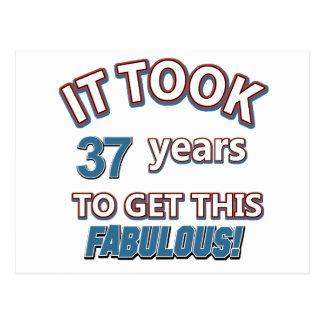 37.os diseños del cumpleaños del año postal
