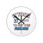 37.os diseños del cumpleaños del año reloj de pared