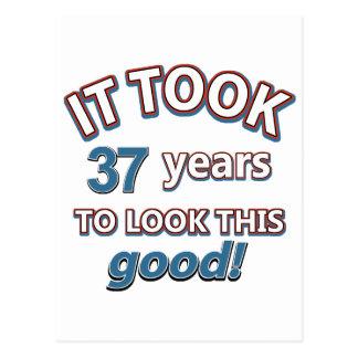 37.os diseños del cumpleaños postales