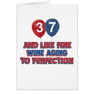 37.os diseños del cumpleaños tarjeta de felicitación