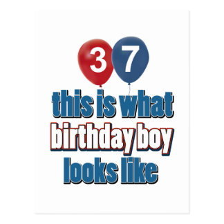 37.os diseños del cumpleaños tarjetas postales