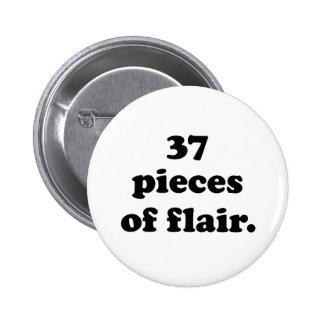 37 pedazos de negro retro divertido y de blanco pin redondo 5 cm