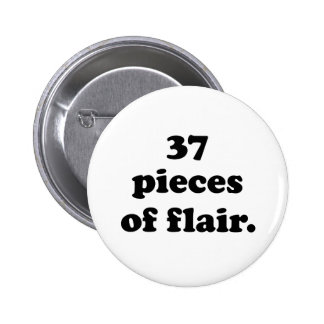 37 pedazos de negro retro divertido y de blanco pin redondo de 2 pulgadas