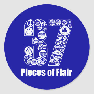 37 Pieces of Flair Classic Round Sticker