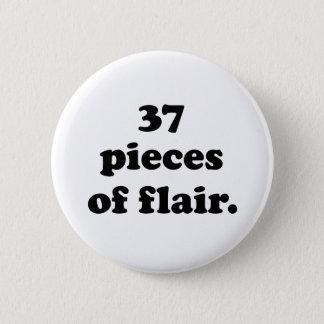 37 Pieces of Flair | Funny Retro Black & White Button