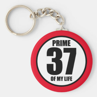 37 - prime of my life keychain