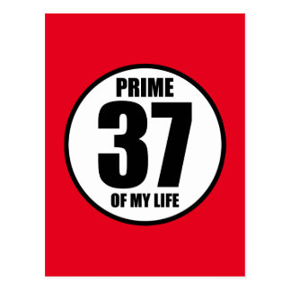 37 - prime of my life postcard