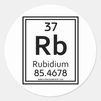 37 Rubidium Classic Round Sticker