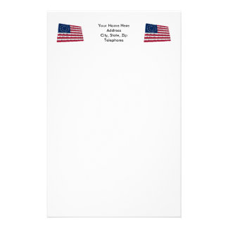 37-star flag, Double Medallion pattern Stationery