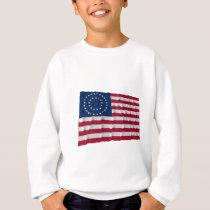 37-star flag, Double Medallion pattern Sweatshirt