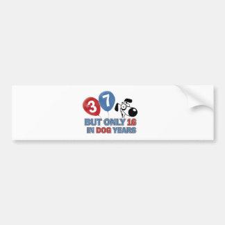 37 year old Dog years designs Bumper Sticker