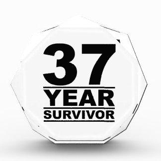 37 year survivor acrylic award
