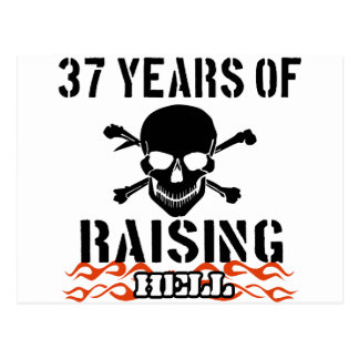 37 years of raising hell post card