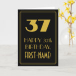 "[ Thumbnail: 37th Birthday – Art Deco Inspired Look ""37"" & Name Card ]"