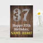 [ Thumbnail: 37th Birthday: Country Western Inspired Look, Name Card ]
